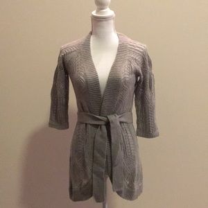 Mossimo crochet Sweater Cardigan with Belt.